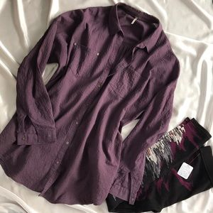 Free People Oversized Button-down